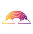 cute rainbow cloud magic fantasy image vector image vector image