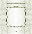 Decorative background with Vintage vector image vector image