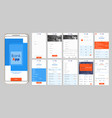 design of the mobile app ui ux a set of gui vector image vector image