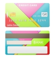 detailed credit card vector image