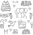 doodle of wedding element style unique vector image vector image