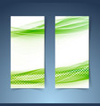 ecological modern abstract swoosh banner vector image