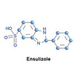 ensulizole sunscreen agent vector image vector image