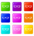 eye glasses set 9 vector image vector image