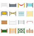 fencing icons set in flat style vector image vector image