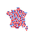 geometric france map with flag colors vector image