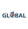 global leadership teamwork solutions vector image vector image