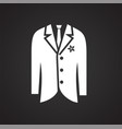 groom tuxedo icon on black background for graphic vector image vector image