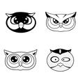 head owl vector image