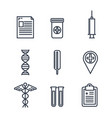 healthcare medical set icons vector image
