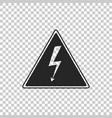 high voltage icon danger arrow in triangle vector image