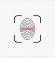 icon of a fingerprint scanner on a transparent vector image
