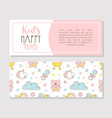 kids toys flyer template in pastel colors baby vector image vector image