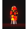 Lava lamp vector image vector image