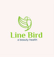 line bird concept logo designs simple modern vector image