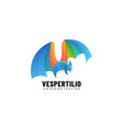 logo bat gradient colorful style vector image