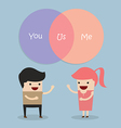 Man and woman talking about their relationship vector image