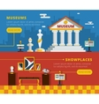 Museum Banner Set vector image vector image