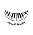 music logo piano smile icon simple style vector image vector image