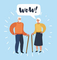 old man and old women talking talk spouse or vector image vector image