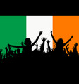 people silhouettes celebrating ireland national vector image vector image