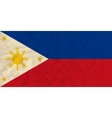 Philippines paper flag vector image