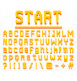 Pixel font 8-bit symbols digital video game