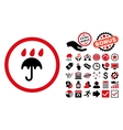 Rain Protection Flat Icon with Bonus vector image