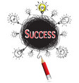 red pencil idea concept red success business vector image vector image