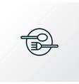 restaurant icon line symbol premium quality vector image vector image
