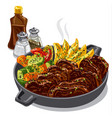 roastbeef with vegetables vector image vector image