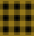 seamless black ocher tartan with ocher stripes vector image vector image