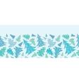 Snowflake Textured Christmas Trees Horizontal vector image vector image