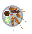 streetfood vector image