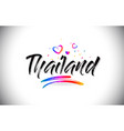 thailand welcome to word text with love hearts vector image