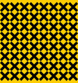 tile yellow and black x cross pattern vector image vector image