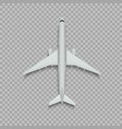 top view airplane vector image vector image
