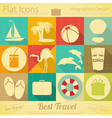 Travel Items in Retro Style vector image vector image