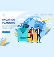 vacation planning web page template vector image vector image