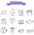 Valentines Day icons collection stock vector image vector image