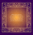 vintage border lace invitation card with mandala vector image vector image