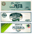 Vintage pizza background vector image vector image