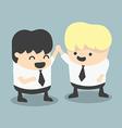 businessman and boss high five Congratulate vector image