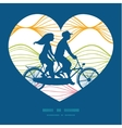 colorful horizontal ogee couple on tandem vector image