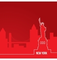 New York USA Concept for web banner One line vector image