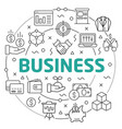 business linear slide for the vector image