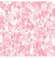 Abstract crystal pink triangle background vector image