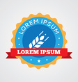 Agriculture vintage badge label icon vector image