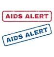 AIDS Alert Rubber Stamps vector image vector image