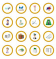 airport cartoon icon circle vector image vector image